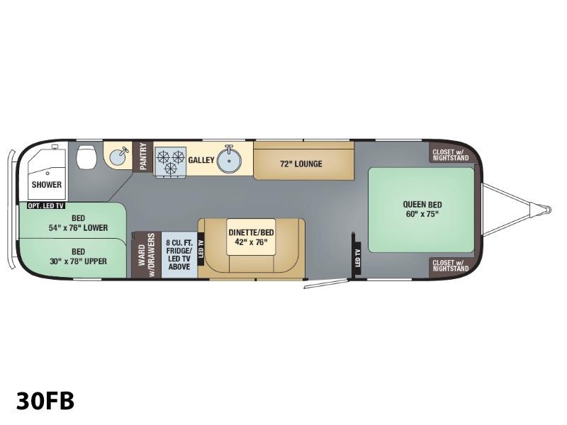 2017 Airstream Flying Cloud 30FB Bunk