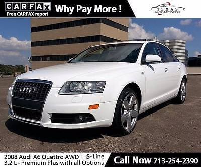 2008 Audi A6 3.2 quattro AWD 4dr Sedan -Line Navigation Premium Heated seats HID Lights Roof