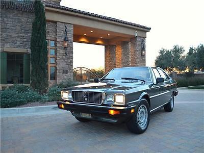 1985 Maserati Quattroporte III 4-Door 1985 Maserati Quattroporte III 4-Door 28,540 Miles Grigio Metallic 4-Door 4.9 li