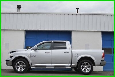 2015 Ram 1500 Laramie Crew Cab 5.7L Hemi 4X4 4WD Nav Loaded Save Repairable Rebuildable Salvage Lot Drives Great Project Builder Fixer Easy Fix