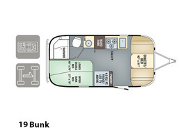 2017 Airstream Flying Cloud 19 Bunk