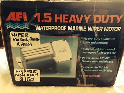 AFI 1.5 HEAVY DUTY WATERPROOF MARINE WIPER MOTOR