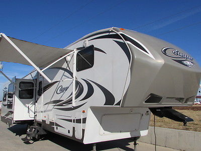 2013 KEYSTONE COUGAR 333MKS 3 SLIDE 36' LOADED MONTANA WILDCAT BIG HORN RV 5TH