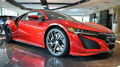 2017 Acura NSX Sport Hybrid 2017 Acura NSX in Valencia Red Pearl