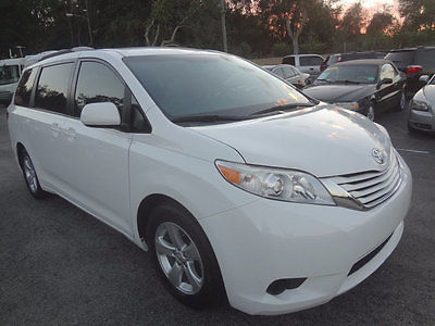 2015 Toyota Sienna Wheel chair/scooter power lift 2015 SIENNA WHEEL CHAIR/SCOOTER LIFT VAN~LEATHER~REAR DVD~1 OWNER~GORGEOUS~CLEAN