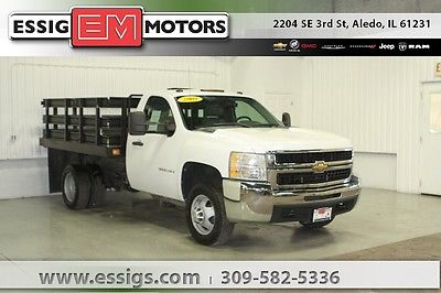 2009 Chevrolet Silverado 3500 Work Truck Used 09 Chevy 3500HD Regular Cab 9 Foot Stake Bed 6.0L V-8 DRW Low Miles WT