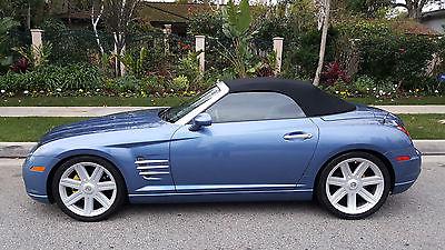 2005 Chrysler Crossfire  Chrysler Crossfire Roadster Convertible  Blue Pearl CREAM  SLK Mercedes Chassis
