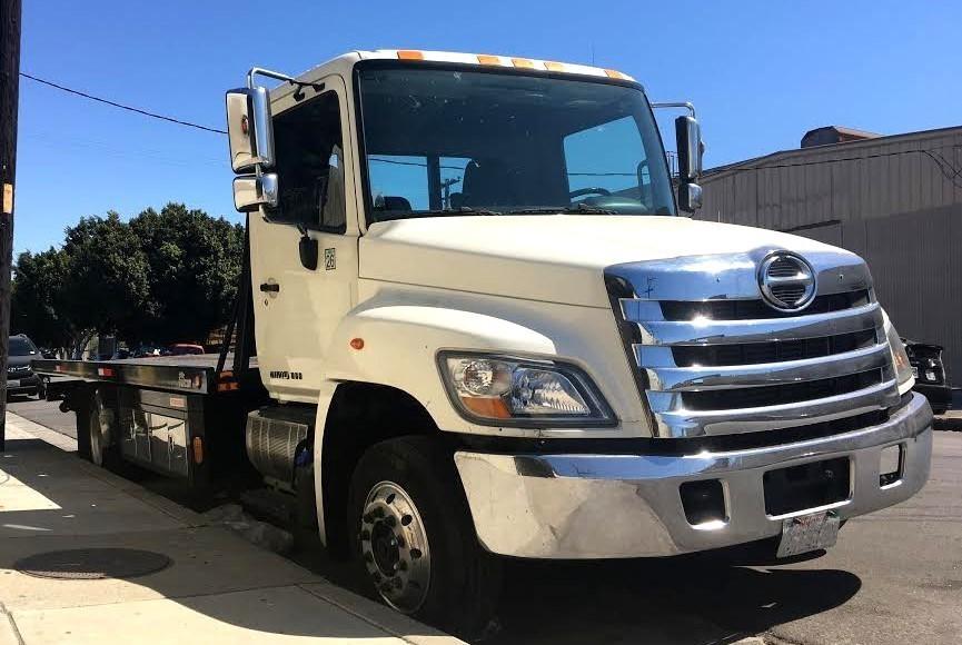 2014 Hino 258lp  Rollback Tow Truck
