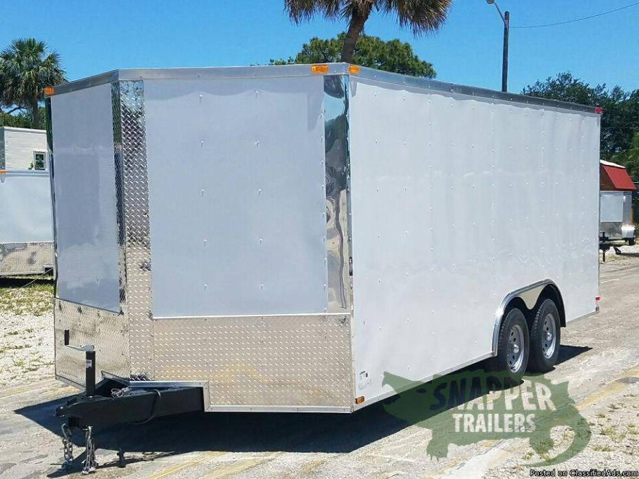 New trailers for sale! 8.5 ft x18 ft Tandem 3,500 Axles Car Hauler with D Rings
