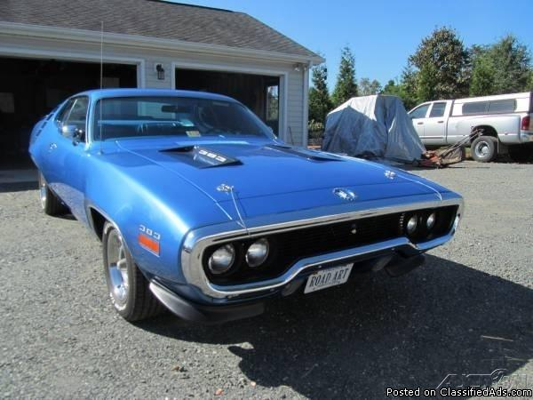 1971 Plymouth Road Runner For Sale in Concord, Virginia  24538