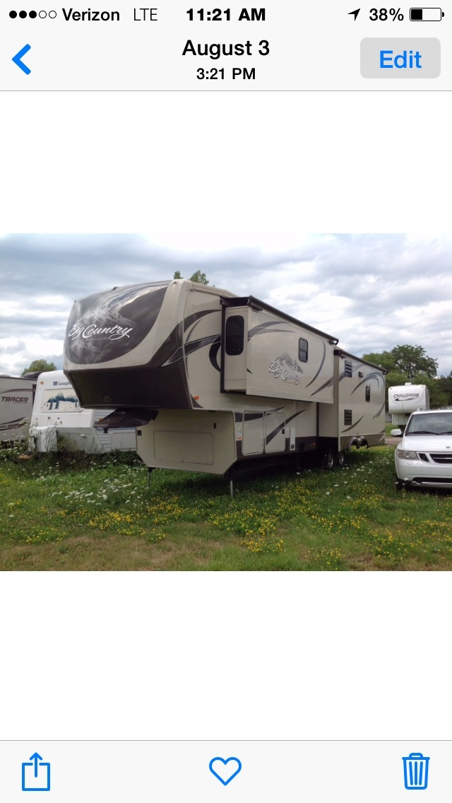 2013 Heartland BIG COUNTRY 3450TS KING BED W/D PREP