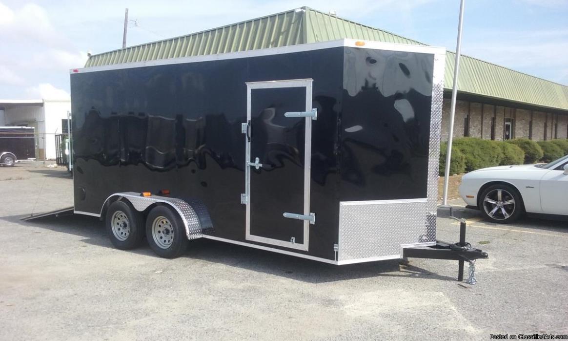 2017 7x16 Enclosed Cargo Trailer in stock in GA