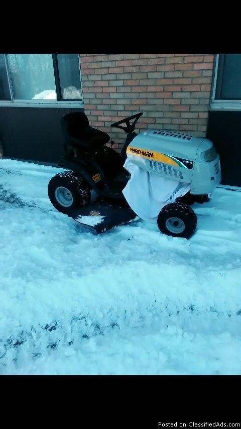a riding lawn mower