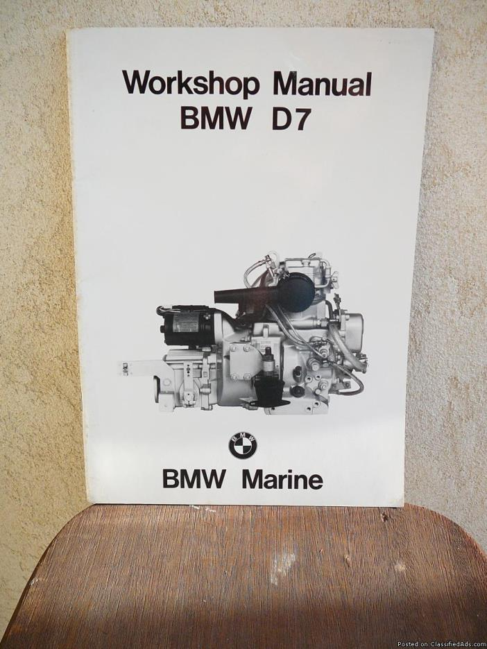 BMW Marine Diesel  WORKSHOP MANUALS  D7, D12, D35/50