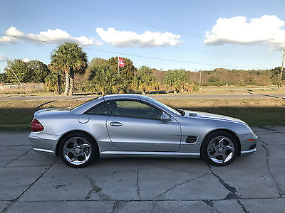 2003 Mercedes-Benz SL-Class Base Convertible 2-Door 2003 Mercedes-Benz SL500 Sport Hard-Top Convertible Salvage Rebuildable