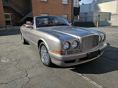 2002 Bentley Azure Convertible  2002 Bentley Azure Convertible Gunmetal Silver on Bordeaux Red Final Series