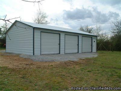 2-3 Bay garages-carports-barns