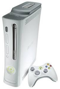 X Box 360 White 60 GB console