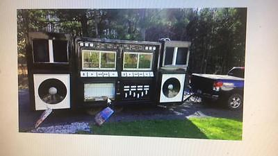 RARE RAINBOW MOBILE BOOM BOX DISK JOCKEY TRAILER BUSINESS RADIO STATION PARTYS