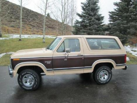 1984 Ford Bronco Xlt for: $18500