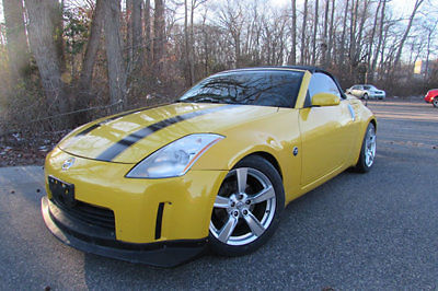 Nissan : 350Z 2005 NISSAN 350Z CONVERTIBLE GRAND TOURING YELLOW 2005 nissan 350 z grand touring convertible we finance loaded low miles