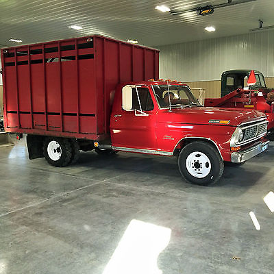 Ford : F-350 sport custom 1970 ford f 350 pickup 74590 original miles with livestock bed 2 owner pa truck