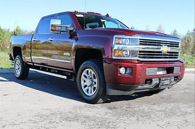 Chevrolet : Silverado 3500 High Country SRW Crew Cab 4G LTE WiFi Sunroof Bose 4 x 4 duramax plus butte red saddle leather navigation driver alert roof lights