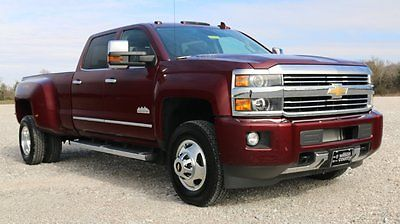 Chevrolet : Silverado 3500 High Country 4x4 DRW 13,025 GVWR Butte Red/Saddle Crew Cab Duramax Plus Sunroof Navigation Driver Alert Roof Lights Bose Long Bed