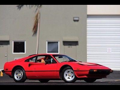 Ferrari : 308 GTBi Quattrovalvole RED ONLY 31K MILES SERVICED 1983 QV TAN LEATHER $1,060.00 A MONTH