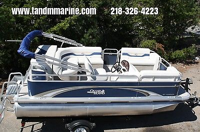 New 16 ft by 8 Grand Island pontoon boat with bunk trailer