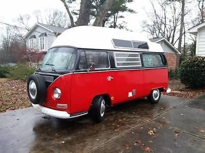 Volkswagen : Bus/Vanagon 1969 vw bus red black sundial conversion volkswagen