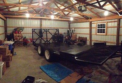 16' tandem axel equipment trailer