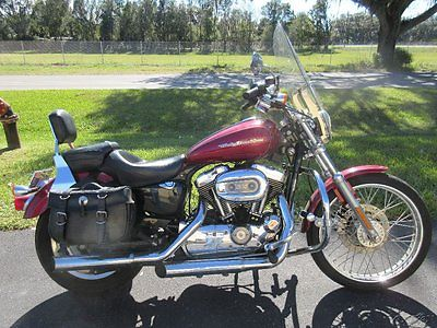 Harley-Davidson : Sportster 2004 harley davidson 1200 c windshield bags exhaust sweet ride cheap