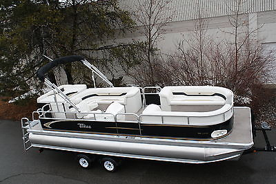 Special---New triple tube  24 ft pontoon boat with hpp tubes