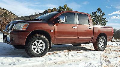 Nissan : Titan SE Crew Cab Pickup 4-Door 2004 nissan titan 4 x 4 off road edition crew cab v 8 5.6 l rare color