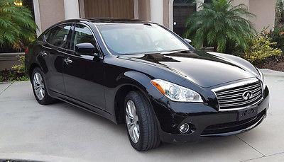 Infiniti : M 37X 2012 infinity m m 37 x sunroof awd loaded black 4 door sedan florida car low miles