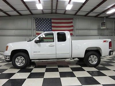 GMC : Sierra 2500 SLT 4x4 Gas 1 owner white ext cab 6.0 l gas warranty financing new tires leather htd z 71 nice