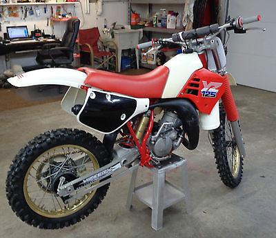 yamaha 125cc dirt bike. yamaha : yz 86 yz 125 vintage red white restored dirt bike 125cc