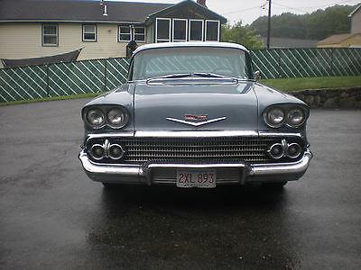Chevrolet : Bel Air/150/210 1958 chevrolet 2 door biscayne 348 tripower motor