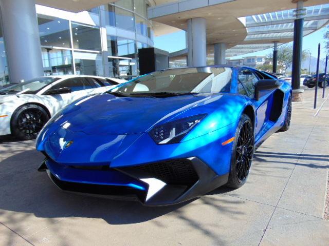 Lamborghini : Aventador LP750 SV 16 superveloce blue 4 wd v 12 navigations miles 343 coupe