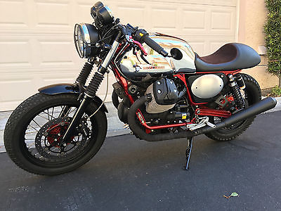 Moto Guzzi : V7 2014 moto guzzi v 7 racer tracker motorcycle custom