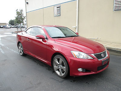 Lexus : IS IS350 CONVERTIBLE REPO CAR - NO RUST - CLEAN CARFAX- STRAIGHT BODY !!! WELL MAINTAINED! FLORIDA