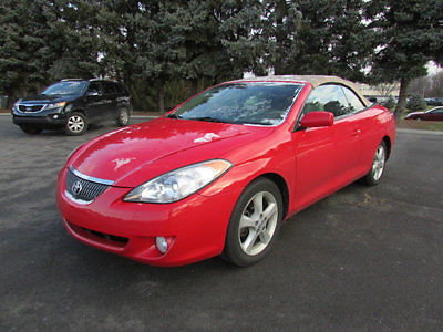 Toyota : Solara 2dr Convertible SE V6 Automatic 2 dr convertible se v 6 automatic automatic gasoline 3.3 l v 6 cyl red