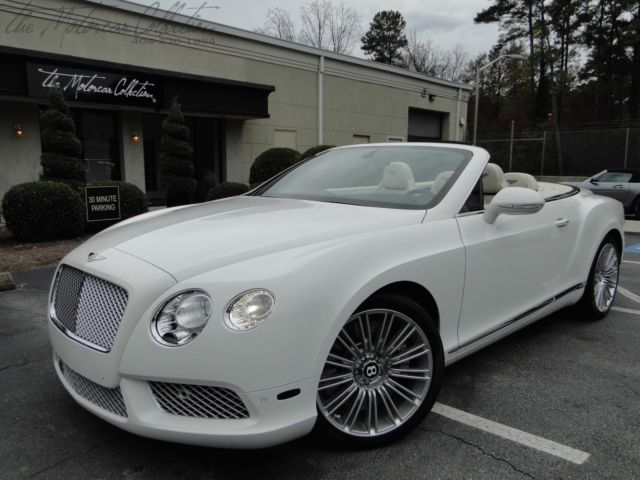 Bentley : Continental GT GTC 2014 bentley gtc v 8 mulliner package only 5 k miles white linen upgraded wheels