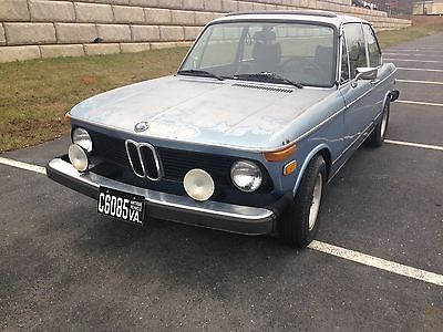 BMW : 2002 1976 bmw 2002 with sunroof and rare bottle top wheels and more
