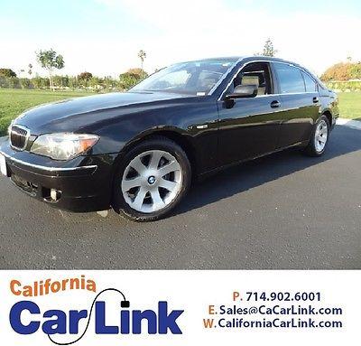 BMW : 7-Series 2006 BMW 750LI E66 2006 bmw 750 li e 66 4 door sport luxury sedan loaded low miles black on black