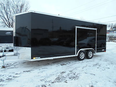 2016 ATC Aluminum 20'+2' Wedge Raven Trailer with Premium Escape Door