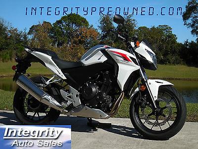 Honda : CB 2014 honda cb 500 f only 811 actual miles flawless
