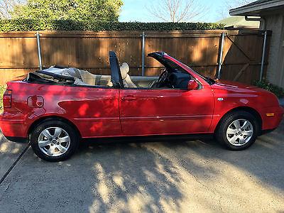 Volkswagen : Cabrio GLX Convertible 2-Door 2001 red vw cabrio low mileage leather heated seats