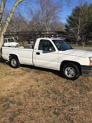 Chevrolet : Silverado 1500 8' bed Contractor pickup with full racks & Tool box 2004 chevrolet silverado 1500